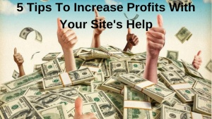 5 Tips To Increase Profits With Your Site's Help
