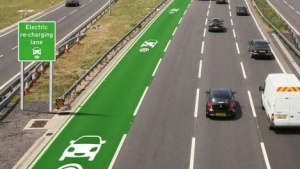 Electric Re-Charging Highway Lanes
